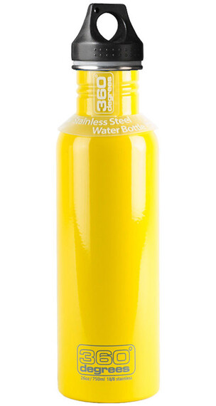 360° degrees Stainless Drink Bottle 750ml yellow